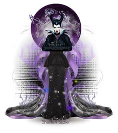 """""""Magnificently Maleficent....."""" by shellfish-suzie ❤ liked on Polyvore featuring art"""