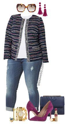 6b8600ae207 Plus Size Tweed Jacket Outfit - Plus Size Fall Outfit Idea - Plus Size  Fashion for Women - alexawebb.com  plussize  alexawebb