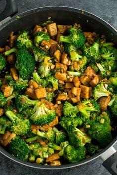 Garlic Tofu Broccoli Skillet Recipe - vegan, gluten free