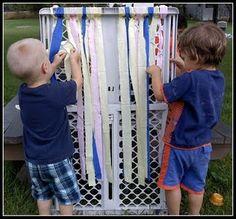 Weaving...great fine motor practice for preschoolers!
