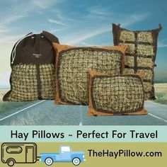 Slow Feed Hay Bags & Nets - Best for Ground Feeding Horse Hay, Horse Feed, Hay Feeder For Horses, Slow Feeder, Easy Fill, Down On The Farm, All Gods Creatures, Perfect Pillow, Tired