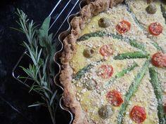 Who needs eggs when you have gram flour? Asparagus Tart, Gram Flour, Eggs, Vegetarian, Fresh, Desserts, Food, Tailgate Desserts, Deserts