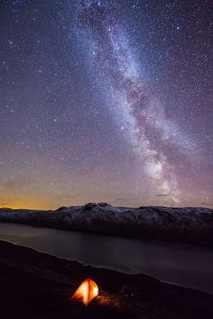 The Milky way above Jotunheimen, Norway (photography by Espen Haagensen)