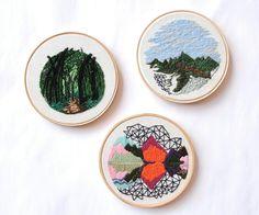 Andrea Lourenco - Acepipes de Lourenço, embroidery art, hand embroidery, landscape