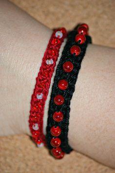 Simplicity - Crochet Beaded Bracelet PATTERN