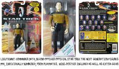 This Limited Edition 5 inch action figure of Lieutenant Commander Data from Star Trek: The Next Generation is a great addition to any Star Trek collection! Click below for more information about this incredible collectible.  http://comicandmoviecollectibles.com/action-figure-lieutenant-commander-data-star-trek-generations/ #comics #collectibles #StarTrek #StarTrekTNG #LietenantCommanderData #ActionFigure