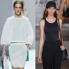 Sportmax S/S '13 and DKNY S/S '13 Sports fashion trend: sporty clothing - Fashionising.com