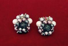Vintage Mauve/Pale Pink Faux Pearl Cluster by FancyThatBlingCo