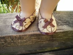 American Girl Doll Shoes 18 Doll Brown and by sassydollcreations