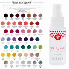 New Spring Catalog = New lacquer colors and a brand new quick dry spray!!!   NoelMWheaton.jamberrynails.com
