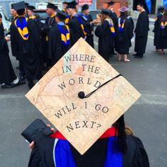 World traveler graduation cap