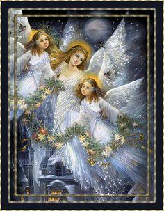 Wielki Boże Narodzenie animacja Christmas Angel - Anioły nad kościołem