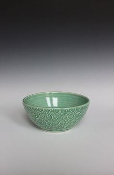 germ of an idea: Porcelain Ceramic Bowl with Hand Painted Slip door HeatherEvesMercer, $32.00