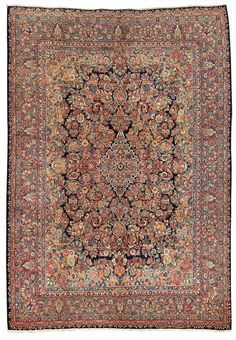 SAROUK CARPET, WEST PERSIA , CIRCA 1940 Dimensions: approx. 435 x 320 cm I Albahie Auction House