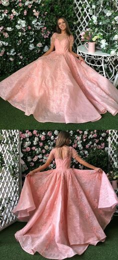 Pink Princess Prom Dress, High Quality Ball Gown, Long Party Dresses