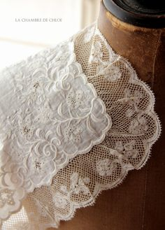 Monogrammed embroidered wedding handkerchief late 19th century