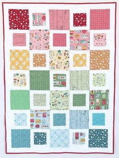 Five and Dime Crib Quilt | This cheery baby quilt is ideal for quilting beginners!