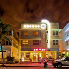 Miami Beach: Hotel Crescent, Ocean Drive, South Beach (Miami Beach, Florida) Hotels in Ocean Drive!
