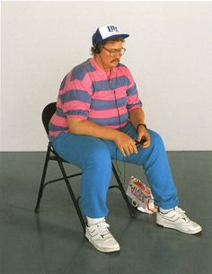 Duane Hanson - Man with walkman, Polyester resin and fiberglass.
