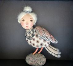 Bird broochthe bird Sirinfantastic birdfantasy от Chelovebriki