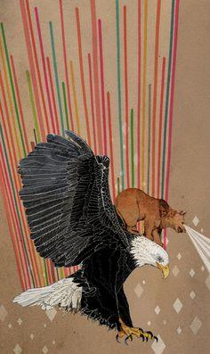 Ohh Deer eagle and bear print - Sandra Diekmann