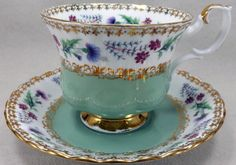 Tea…Royal Albert…Teacup and Saucer from the Rendezvous Series Tea Cup Set, My Cup Of Tea, Tea Cup Saucer, Tea Sets, Royal Albert, Vintage Tea, Vintage Dishes, Teapots And Cups, Teacups