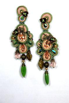 Long Soutache Earrings by BeadsRainbow on Etsy, €120.00