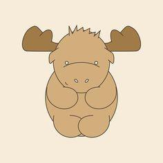 Little Moose Print - Love this!
