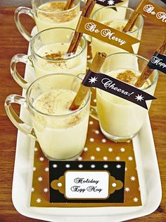 Raise a glass and toast the seasonal by serving this truly traditional holiday eggnog. Serve the non-alcoholic base with your favorite spirit on the side, if desired.