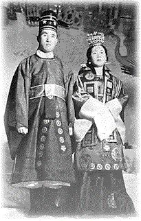 True Parents in Korean Wedding Garments