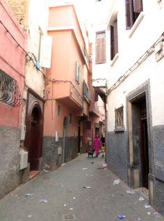 The Medina, narrow streets #Casablanca