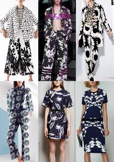 Resort 2015   Catwalk Print  Pattern Trend Highlights Antonio Marras / Alexander Wang / Alicia Olivia / Issa / Adam Lippes / Bibhu Mohapatra