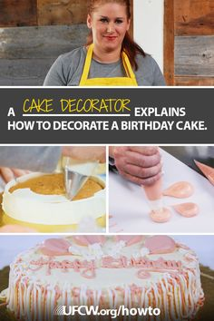 Watch Carolyn Brooks show you how to make a festive balloon birthday cake—perfect for a children's birthday party. Visit ufcw.org/how-tos/ to subscribe to UFCW's DIY tips from more experts in our union family.