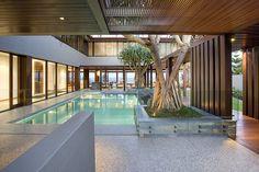 Honed Concrete - Pool Surrounds, Gold Coast Residence (Photo courtesy BGD Architects)