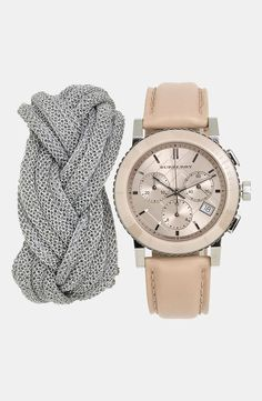 Mesh Bracelet + Burberry Watch