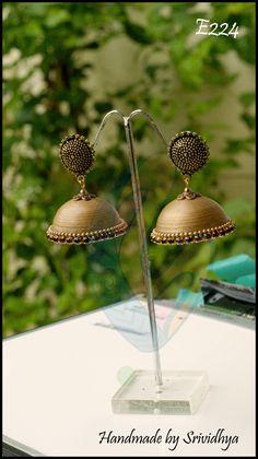 Handmade Paper Jhumka Earring