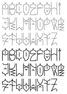32 Inspirational Graffiti Alphabet Letter Examples www. Alphabet A, Alphabet Police, Hand Lettering Alphabet, Graffiti Alphabet, Typography Letters, Graffiti Words, Graffiti Tagging, Calligraphy Alphabet, Islamic Calligraphy