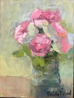 Tuesday Roses, oil, 12 x 16