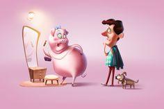 Hypercity - Love meats ad campaign illustration by Mihir Joglekar | Illustration | 2D | CGSociety