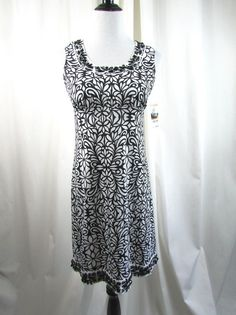 Inc. International Concepts Black White Tiled Embellished Dress Size Small S NWT #INCInternationalConcepts #WeartoWork