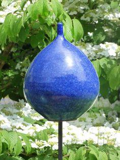 Keramik-Zwiebel kobalt - Gärten für Auge & Seele