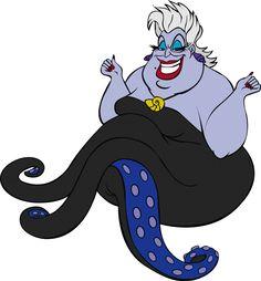 """-""""Úrsula""""- La bruja del mar, en Sirenita."""