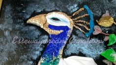peacock kanzashi painting 6