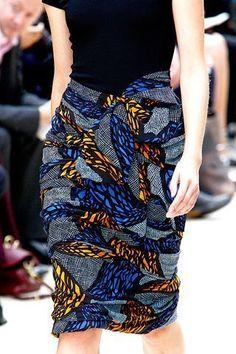 Sans patron. Wax & coton. 2012. Spécial Mariage-de-l'année, a près la blouse Amanda, le bas : la jupe. Je voulais une robe...