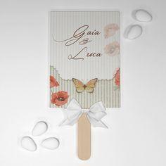 Ventaglietto farfalle vintage, personalizzato
