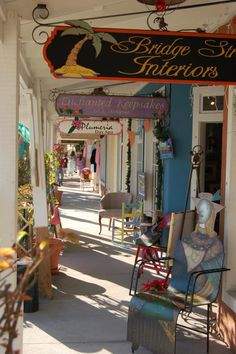 Bridge Street, Bradenton Beach FL. Love these markets and boutiques. And a farmers market on Sundays.