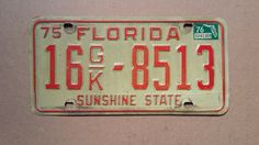 Vintage 1975 Florida License Plate 1975 license plate vintage Florida license plate old Florida license plate antique Florida license & Vintage 1960 Indiana License Plate 1960 license plate vintage ...