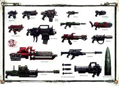 Warhammer 40k Weapon concepts    (funnyjunk. 2012)