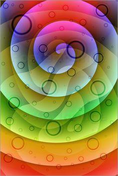 Farbverlauf 3 Poster von Christine Bässler