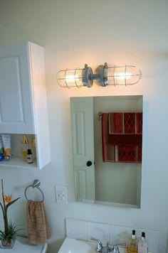 Bathroom Light Industrial industrial bathroom vanity light fixture pine panel | bar light
